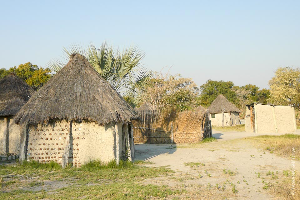 A village of Botswana