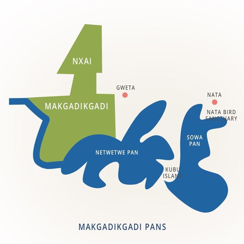 National Parks of Botswana: Makgadikgadi