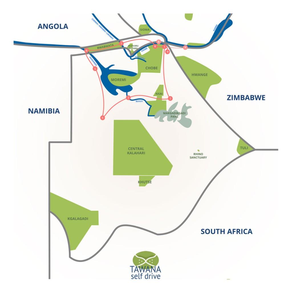A self-drive safari in botswana : The Big Five Route