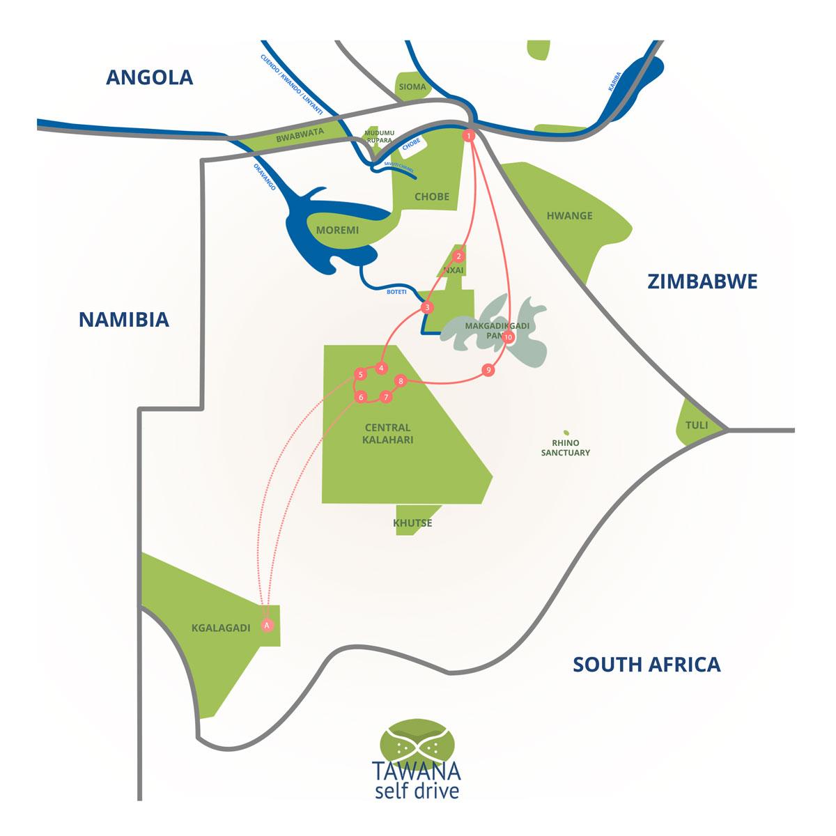 Self-drive safari in the Kalahari