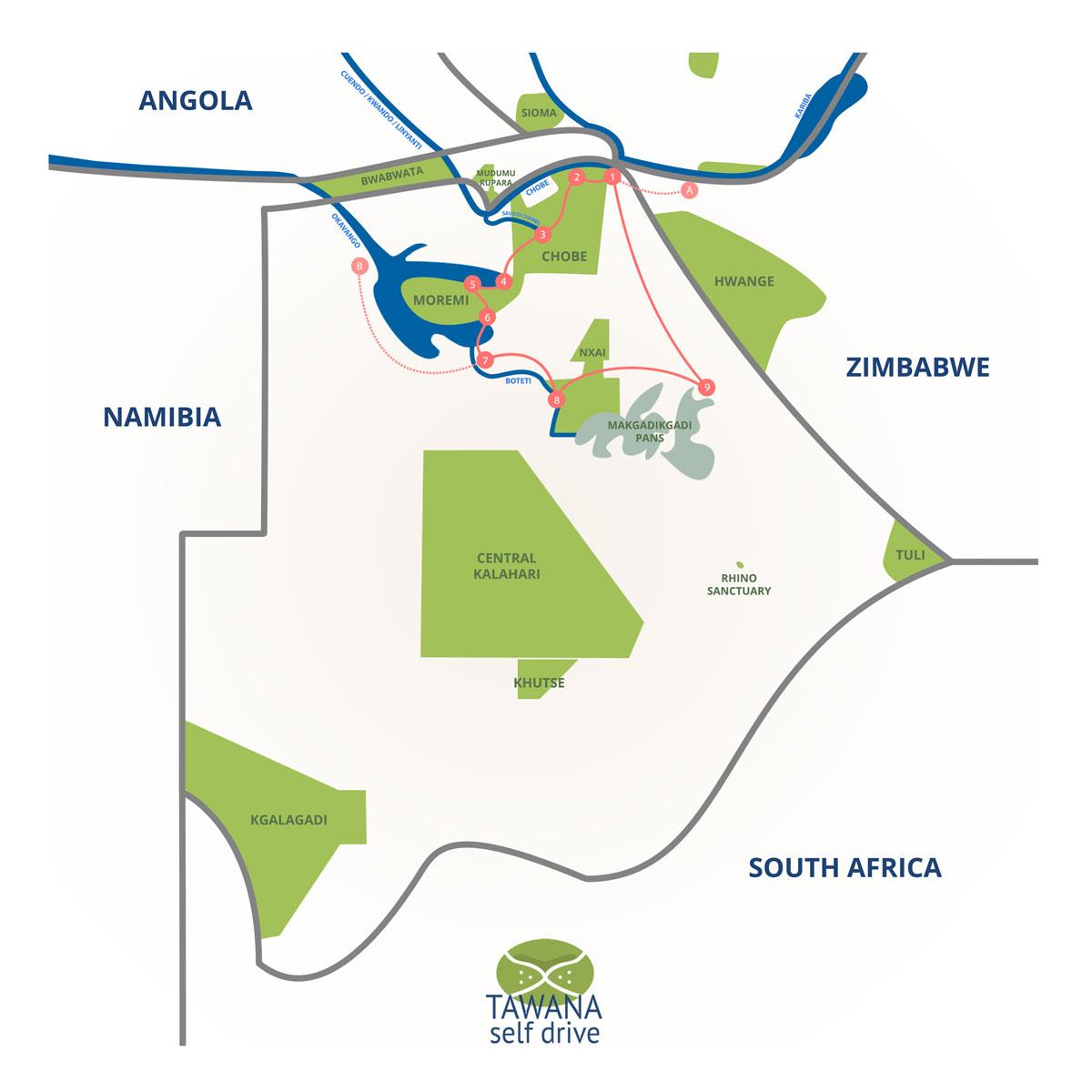 self-drive adventure in Botswana